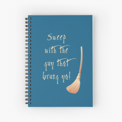 Sweep With The Guy Savvy Cleaner Funny Cleaning Gifts Spiral Notebook