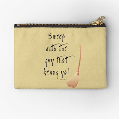 Sweep With The Guy Savvy Cleaner Funny Cleaning Gifts Zipper Bag