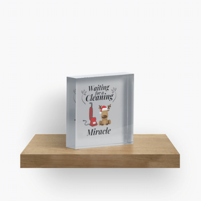 Waiting For A Cleaning Miracle Savvy Cleaner Funny Cleaning Gifts Crazy Cube