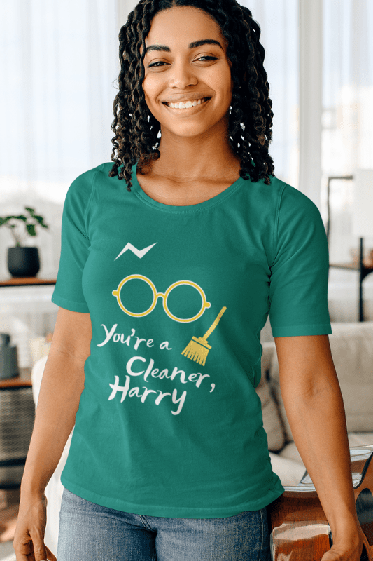 You're a Cleaner Harry Savvy Cleaner Funny Cleaning Shirts Women's Slouchy T-Shirt