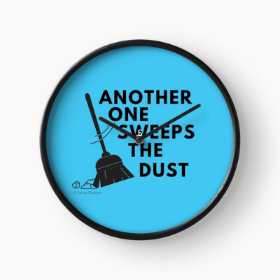 Another One Sweeps The Dust Savvy Cleaner Funny Cleaning Gifts Clock