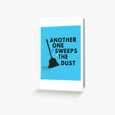 Another One Sweeps The Dust Savvy Cleaner Funny Cleaning Gifts Greeting Card