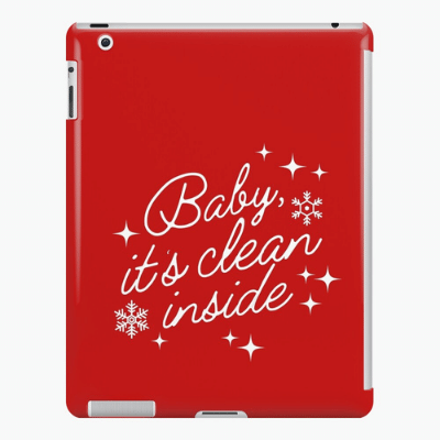 Baby It's Clean Inside Savvy Cleaner Funny Cleaning Gifts Ipad Case