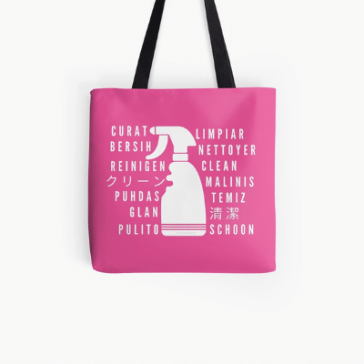 Clean In Every Language Savvy Cleaner Funny Cleaning Gifts All over Print Tote Bag