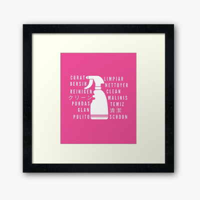 Clean In Every Language Savvy Cleaner Funny Cleaning Gifts Framed Art Print
