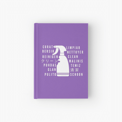 Clean In Every Language Savvy Cleaner Funny Cleaning Gifts Hardback Journal