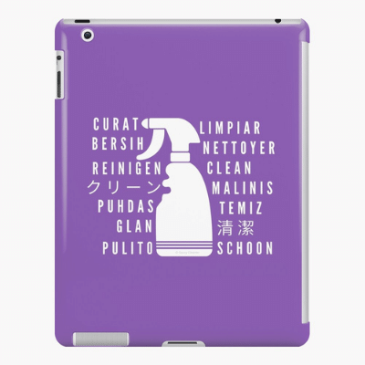 Clean In Every Language Savvy Cleaner Funny Cleaning Gifts Ipad Case