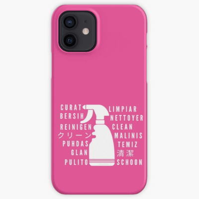 Clean In Every Language Savvy Cleaner Funny Cleaning Gifts Iphone Case