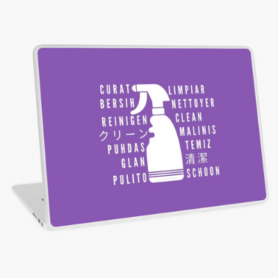 Clean In Every Language Savvy Cleaner Funny Cleaning Gifts Laptop Skin
