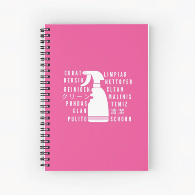 Clean In Every Language Savvy Cleaner Funny Cleaning Gifts Spiral Notebook