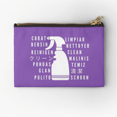 Clean In Every Language Savvy Cleaner Funny Cleaning Gifts Zipper Pouch