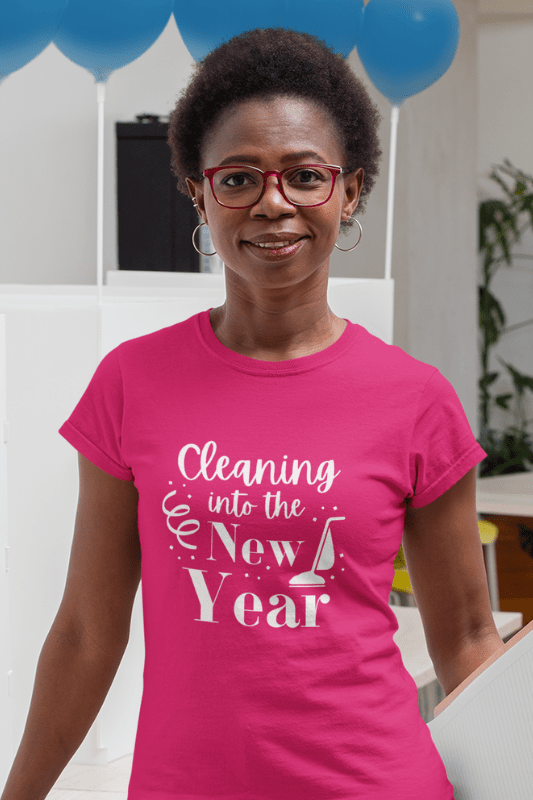 Cleaning Into the New Year Savvy Cleaner Funny Cleaning Shirts Women's Classic T-Shirt