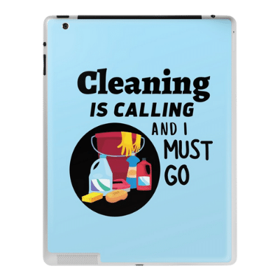 Cleaning is Calling Savvy Cleaner Funny Cleaning Gifts ipad case