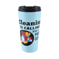 Cleaning is Calling Savvy Cleaner Funny Cleaning Gifts travel mug