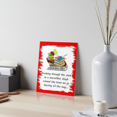 Dusting All The Way Savvy Cleaner Funny Cleaning Gifts Art Board Print