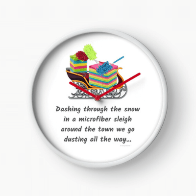 Dusting All The Way Savvy Cleaner Funny Cleaning Gifts Clock