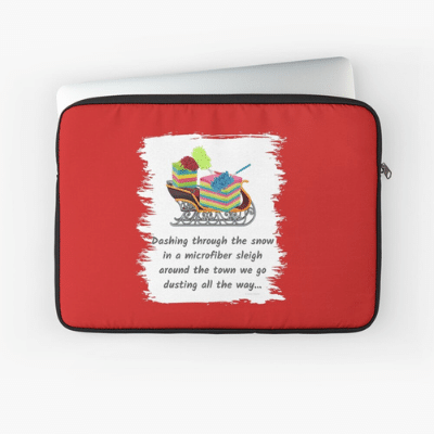 Dusting All The Way Savvy Cleaner Funny Cleaning Gifts Laptop Sleeve