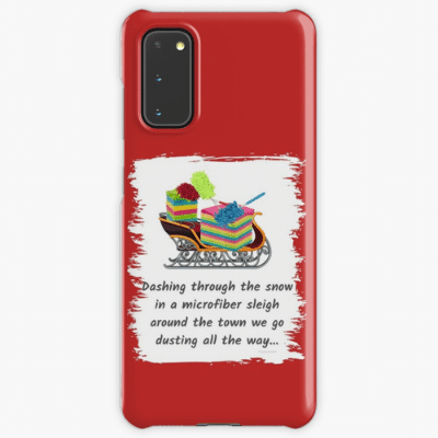Dusting All The Way Savvy Cleaner Funny Cleaning Gifts Samsung Phone Case