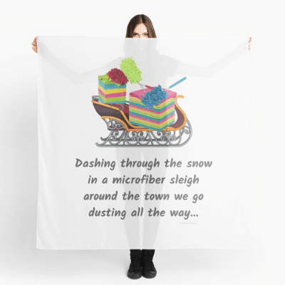 Dusting All The Way Savvy Cleaner Funny Cleaning Gifts Scarf