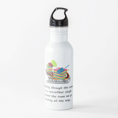 Dusting All The Way Savvy Cleaner Funny Cleaning Gifts Water Bottle