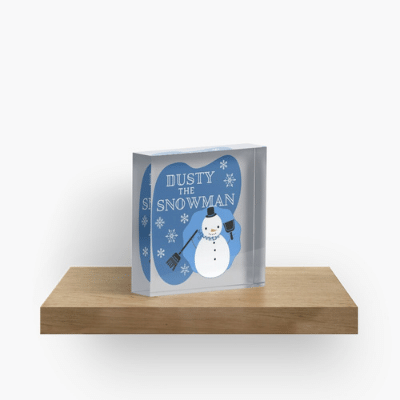 Dusty The Snowman Savvy Cleaner Funny Cleaning Gifts Crazy Cube