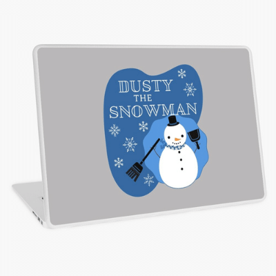 Dusty The Snowman Savvy Cleaner Funny Cleaning Gifts Laptop Skin