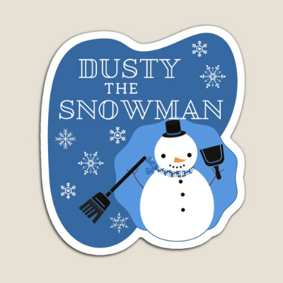 Dusty The Snowman Savvy Cleaner Funny Cleaning Gifts Magnet