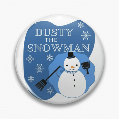 Dusty The Snowman Savvy Cleaner Funny Cleaning Gifts Pin