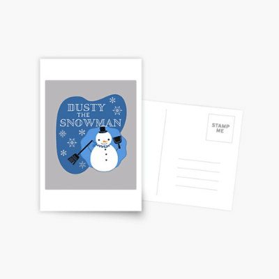 Dusty The Snowman Savvy Cleaner Funny Cleaning Gifts Postcard