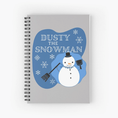 Dusty The Snowman Savvy Cleaner Funny Cleaning Gifts Spiral Notebook
