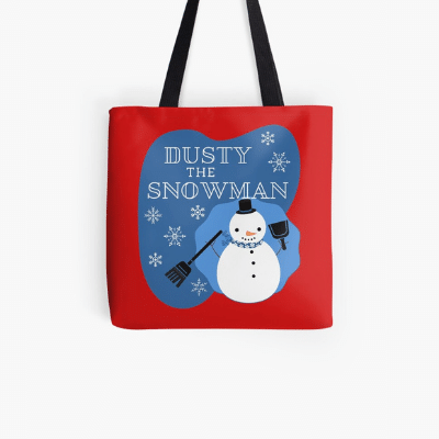 Dusty The Snowman Savvy Cleaner Funny Cleaning Gifts Tote Bag