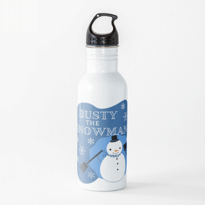 Dusty The Snowman Savvy Cleaner Funny Cleaning Gifts Water Bottle