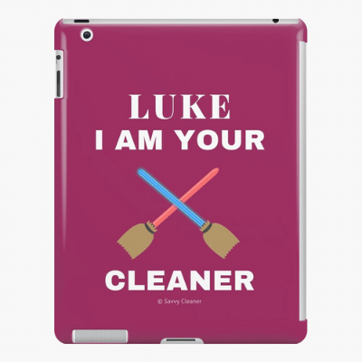 Luke I Am Your Cleaner Savvy Cleaner Funny Cleaning Gifts Ipad Case