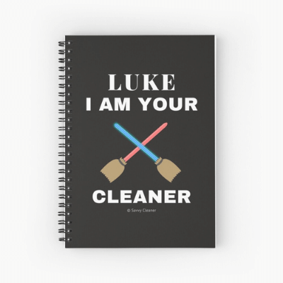 Luke I Am Your Cleaner Savvy Cleaner Funny Cleaning Gifts Spiral Notebook