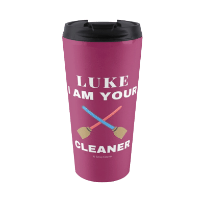 Luke I Am Your Cleaner Savvy Cleaner Funny Cleaning Gifts Travel Mug