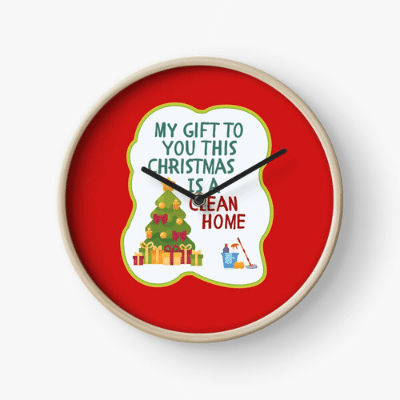 My Gift to You This Christmas Savvy Cleaner Funny Cleaning Gifts Clock