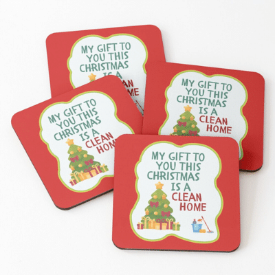 My Gift to You This Christmas Savvy Cleaner Funny Cleaning Gifts Coasters