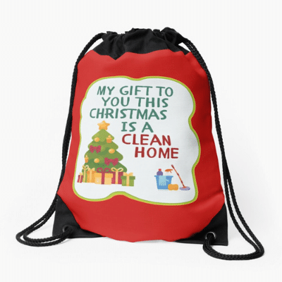 My Gift to You This Christmas Savvy Cleaner Funny Cleaning Gifts Drawstring Bag