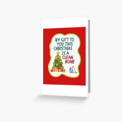 My Gift to You This Christmas Savvy Cleaner Funny Cleaning Gifts Greeting Card