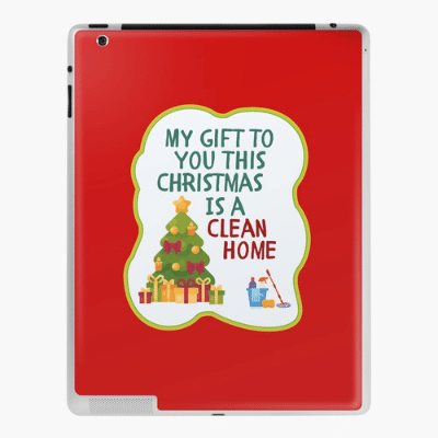 My Gift to You This Christmas Savvy Cleaner Funny Cleaning Gifts Ipad Case