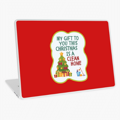 My Gift to You This Christmas Savvy Cleaner Funny Cleaning Gifts Laptop Skin