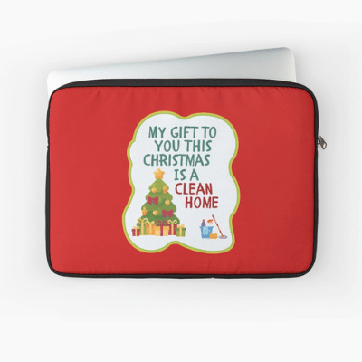 My Gift to You This Christmas Savvy Cleaner Funny Cleaning Gifts Laptop Sleeve
