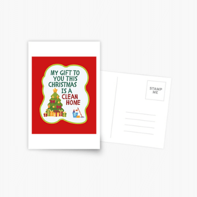 My Gift to You This Christmas Savvy Cleaner Funny Cleaning Gifts Postcard