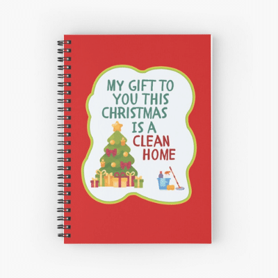 My Gift to You This Christmas Savvy Cleaner Funny Cleaning Gifts Spiral Notebook