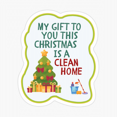 My Gift to You This Christmas Savvy Cleaner Funny Cleaning Gifts Sticker