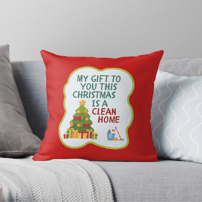 My Gift to You This Christmas Savvy Cleaner Funny Cleaning Gifts Throw Pillow