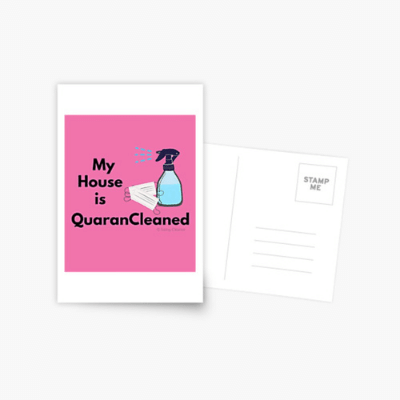 My House Is Quarancleaned Savvy Cleaner Funny Cleaning Gifts Postcard