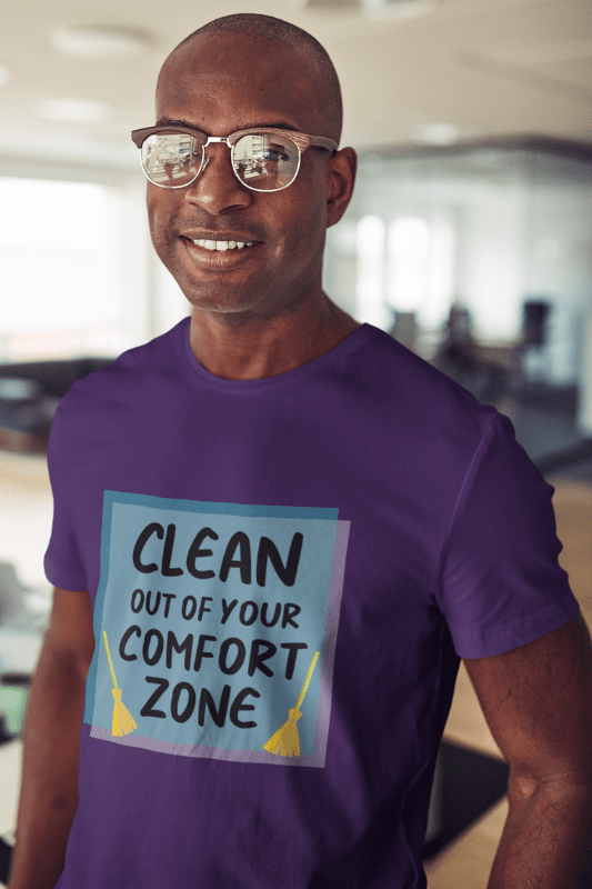 Out Of Your Comfort Zone Savvy Cleaner Funny Cleaning Shirts Classic Pullover Hoodie