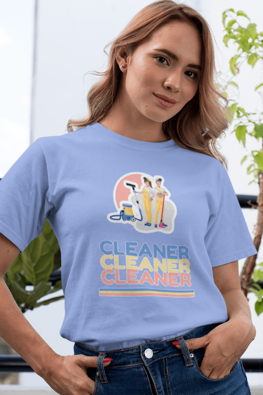 Retro Cleaner Savvy Cleaner Funny Cleaning Shirts Women's Classic T-Shirt