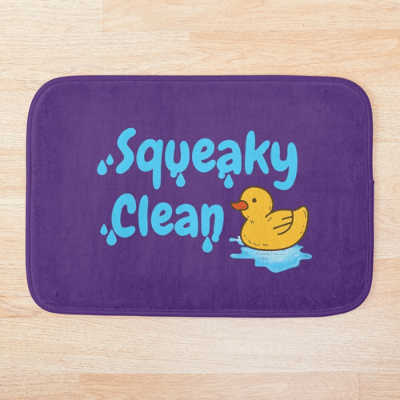 Squeaky Clean Savvy Cleaner Funny Cleaning Gifts Bathmat